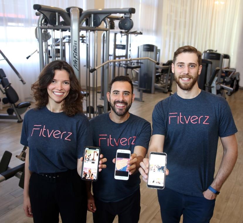 Los exatletas Stephanie Román, José Velilla y Lisandro Martino fundaron Fitverz, startup cuyo principal modelo de negocio es proveer a los patronos una alternativa a los programas tradicionales de bienestar que se implementan para los empleados.