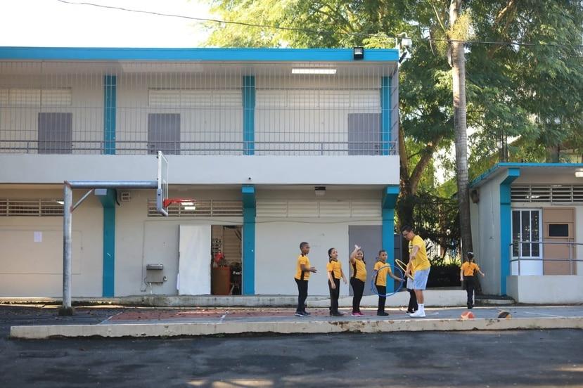 La escuela Juan B. Huyke en Puerto Nuevo.