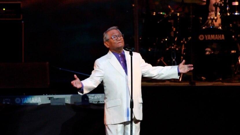 """Armando Manzanero se presentó por última vez en Puerto Rico en febrero del 2020 para el concierto """"El bolero nos une"""" junto a Danny Rivera."""