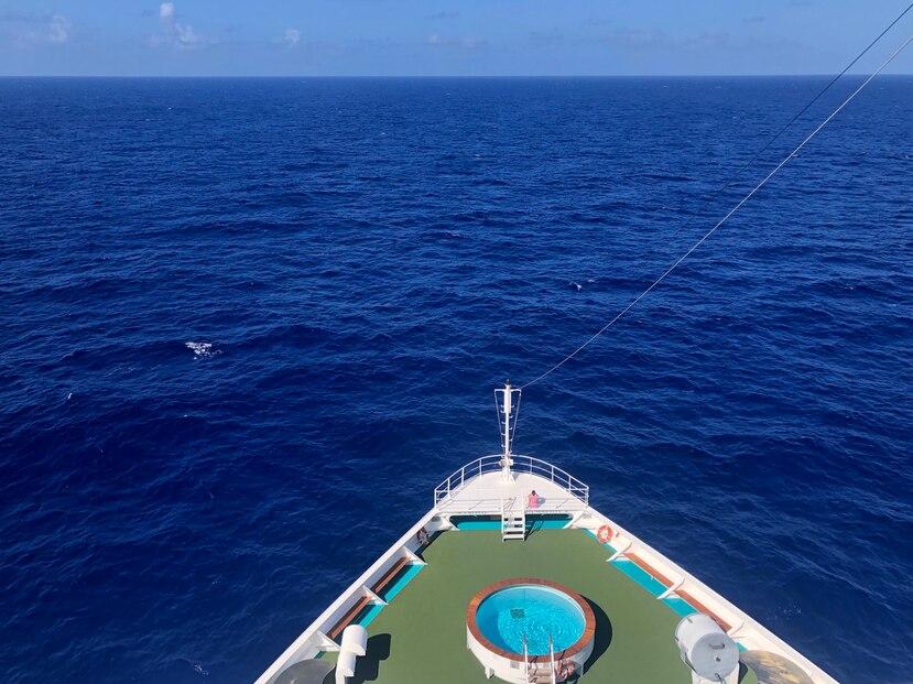 Crucero de Crystal Cruises navegando por el Caribe. (Gregorio Mayí / Especial para GFR Media)