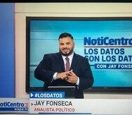 """Jay Fonseca comenzó sus labores en Wapa TV con su sección """"Los datos son los datos"""" en NotiCentro Edición Estelar."""
