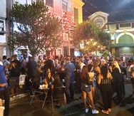 Ambiente en la Placita de Santurce a las 9:00 p.m., el viernes 5 de marzo de 2020.