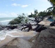 Parcelas Suárez, en Loíza, es una de las zonas más afectadas por la erosión costera en Puerto Rico.
