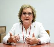La exsecretaria de Hacienda Teresita Fuentes. (GFR Media)