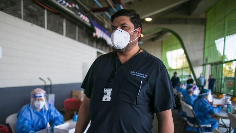 El secretario de Salud, Carlos Mellado.