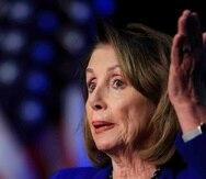 """La presidenta de la Cámara, Nancy Pelosi, sostuvo que el Congreso ya """"rechazó"""" financiar el muro fronterizo. (AP/Manuel Balce Ceneta)"""