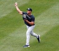 Aaron Judge durante un entrenamiento de los Yankees la pasada semana.