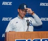 """El exjugador boricua, José """"Cheíto"""" Cruz, fue presentado el martes como el nuevo mánager de la Universidad de Rice."""