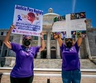 La madre de Aleysha Díaz, Wency Vélez, y la madre de Nashaly Torres, Michelle Vargas, exigieron el esclarecimiento de los casos en los que fueron asesinadas sus hijas.