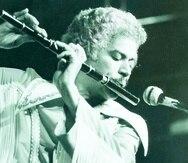 el director musical y flautista dominicano johnny pacheco. artistas. archivo historico. 09/06/77. gary williams.  -----