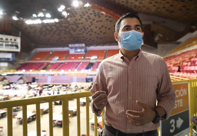Olvin Valentin, comisionado electoral del Movimiento Victoria Ciudadana.