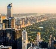 Vista aérea del centro de Manhattan y su Parque Central.