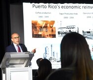 El economista Gustavo Vélez presentó un estudio sobre la reinvención de Puerto Rico durante la convención de Relacionistas Púlicos de Puerto Rico. (Suministrada)