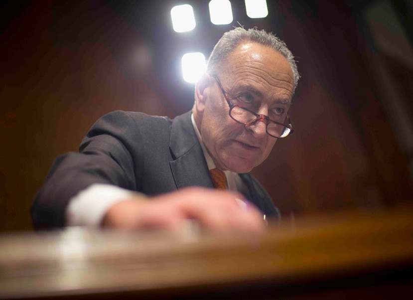 """""""I'm with Puerto Rico, they can count on me,"""" stated Senator Charles Schumer (New York), who is emerging as the next Democratic leader in the Senate. (AP)"""