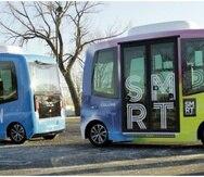 Estos son los buses autónomos que ya operan en Columbus. (Foto: Smart Columbus)