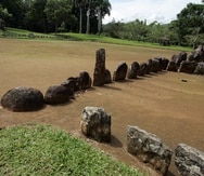 18 de julio  2006 utuado centro ceremonial parque caguana en utuado investigacion de nuevas hipotesis de las construcciones en la foto batey  <<juan angel alicea mercado >> <<juan angel alicea mercado >>