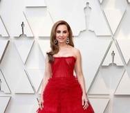 Marina de Tavira llegó al teatro Dolby junto a Yalitza Aparicio. (EPA)