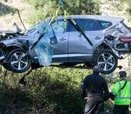 El golfista Tiger Woods tuvo el accidente el pasado 23 de febrero y fue sometido a varias cirugías.