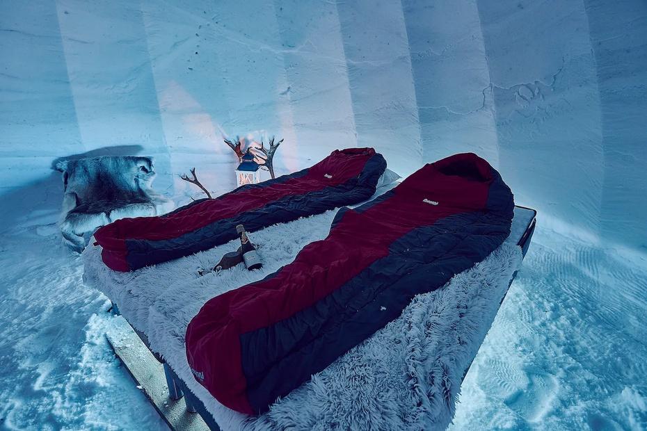 El iglú fue diseñado para diseñada para disfrutar del círculo ártico en contacto con la naturaleza.