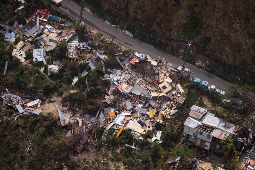 Vista del barrio Punta Diamante en Ponce tras el azote del huracán María. (GFR Media)