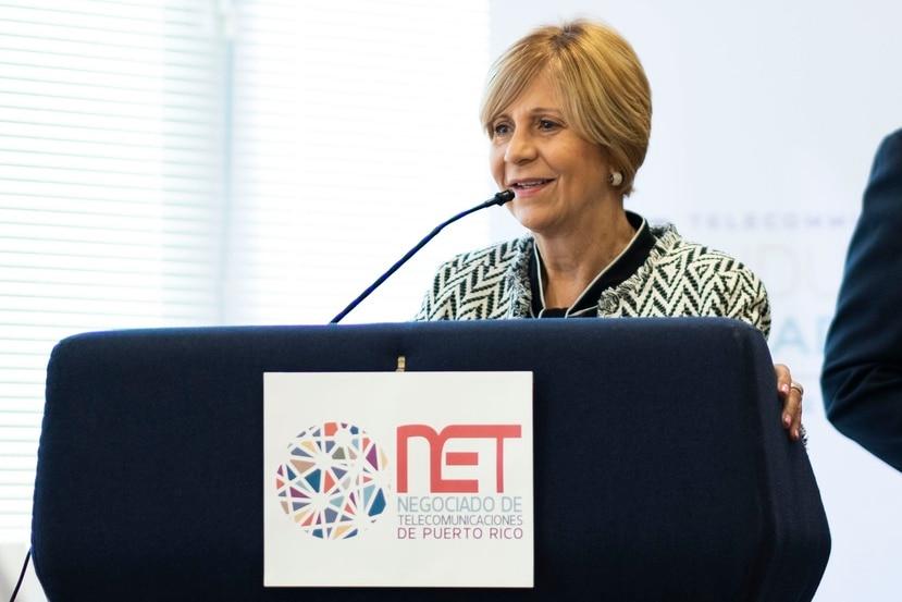 La presidenta del Negociado de Telecomunicaciones (NET), Sandra Torres López.
