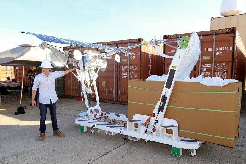 Antena de Project Loon que es elevada a la estratosfera por un globo. (Archivo/GFR Media)