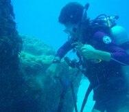 Una limpieza submarina en Crash Boat, Aguadilla.