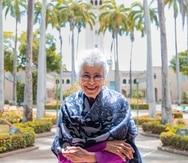 La maestra Myrna Casas dijo que recibe este homenaje que le hace el Teatro de la Universidad de Puerto Rico con humildad y agradecimiento.