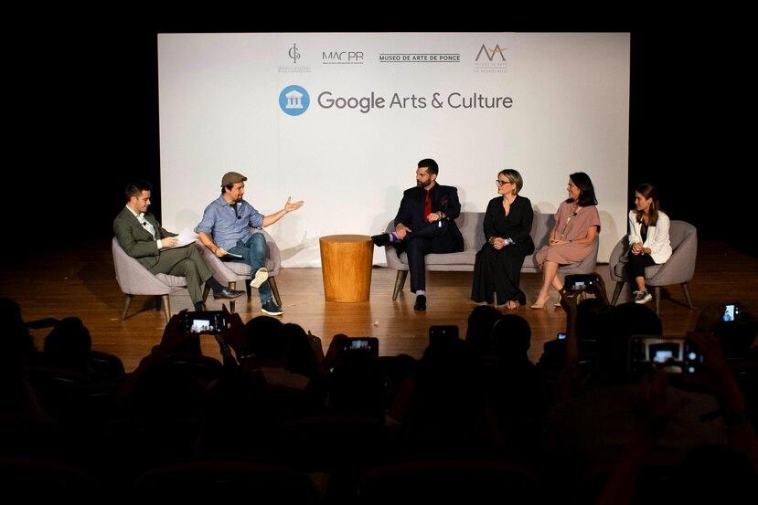 Lin-Manuel Miranda moderó un conversatorio con  los directivos y curadores del ICP, Museo de Arte Contemporáneo, Museo de Arte de Puerto Rico y Museo de Arte de Ponce.