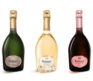 Tres opciones de champán de la casa Ruinart, distribuido en Puerto Rico por la Bodega de Méndez.