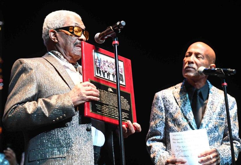 Rafael Ithier y Papo Rosario durante el concierto.