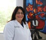 Mayra Olavarría, presidenta interina del principal centro docente de la isla