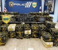 El millonario cargamento incautado por las autoridades en Yabucoa.
