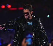 El cantante Bad Bunny durante su entrada en WrestleMania el pasado mes de abril en Tampa, Florida.