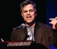 """El actor y director de cine Mark Ruffalo presentó el evento en Nueva York, bautizado como """"El discurso popular del Estado de la Unión"""". (AP)"""