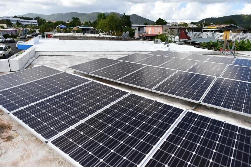 Los paneles solares de techo recargan la batería del hogar durante el día. (GFR Media)