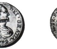 Dibujo de moneda realizado por José Campeche en 1795