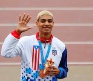 Ryan Sánchez ganó medalla de bronce en los 800 metros en Lima y de una vez aseguró su pase olímpico. (Suministrada)