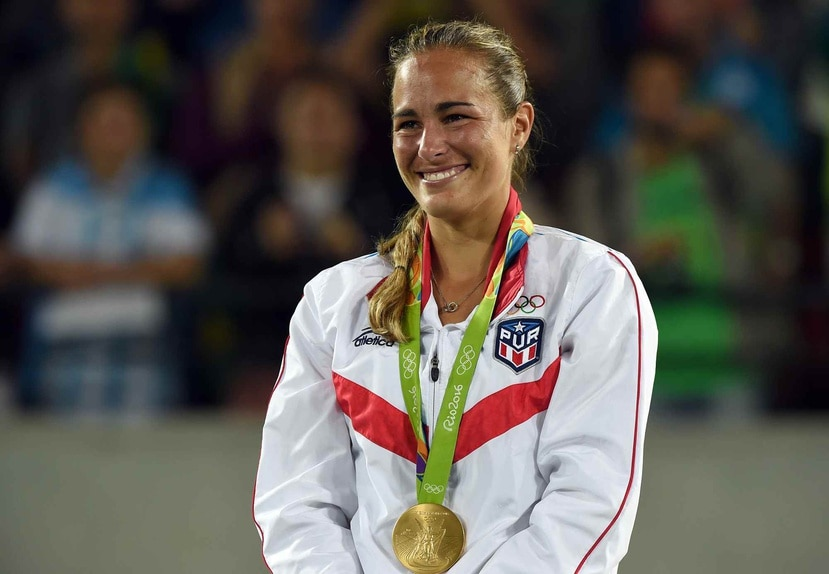 Mónica Puig defendería en Tokio la medalla de oro ganada en Río hace cuatro años. (Archivo)