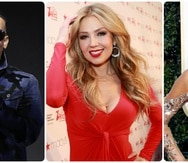 Daddy Yankee, Thalía y Sofía.
