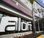 El hotel Aloft en el Distrito T-Mobile, en San Juan.