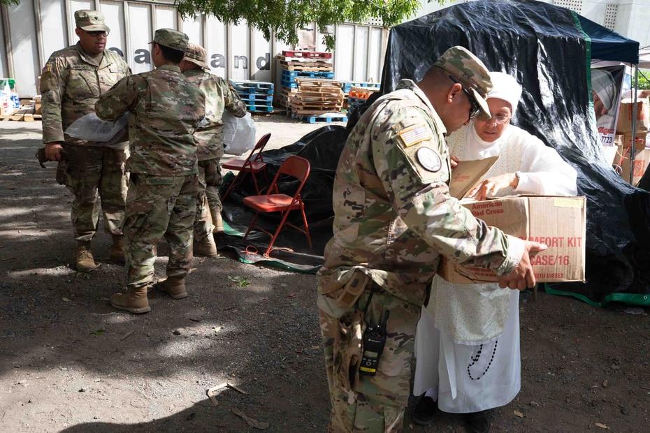 Tras el temblor del 7 de enero en lugar se convirtió en un gran centro de acopio desde el cual se ha distribuido ayuda.