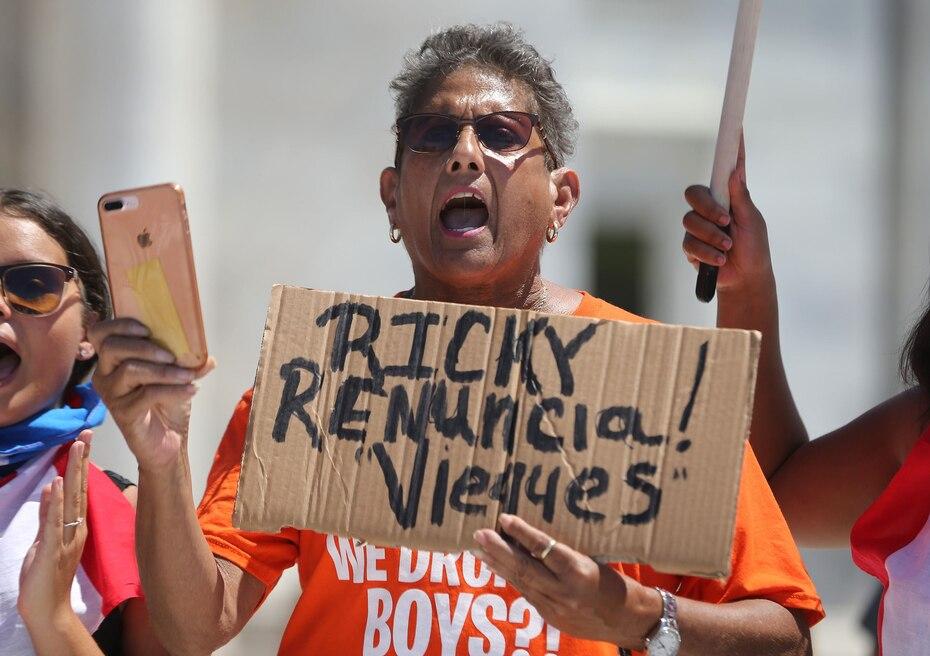 El mensaje universal de la mayoría de los manifestantes era el mismo: solicitar la renuncia de Ricardo Rosselló.