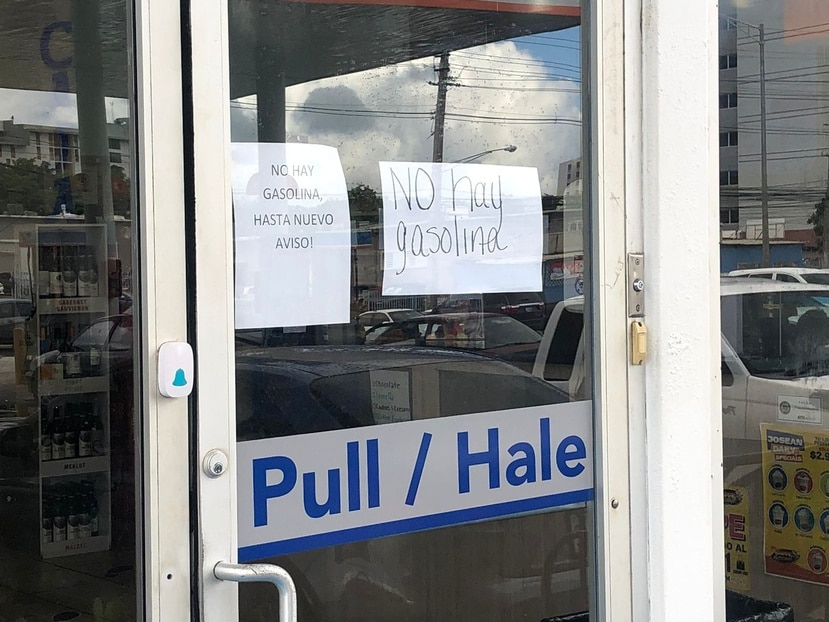 Un puesto de gasolina en Caguas se quedó sin combustible hoy, con la entrada en vigor del paro de camioneros.