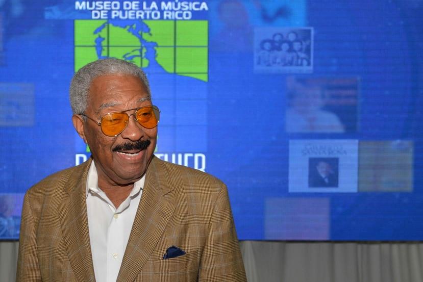 El fundador del Gran Combo, Rafael Ithier, durante el anuncio de la construcción del Museo de la Música en Guaynabo. (GFR Media)