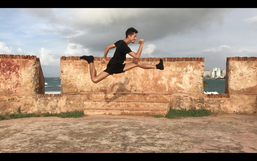 El bailarín Abraham Texidor participa en el espectáculo virtual de Andanza.