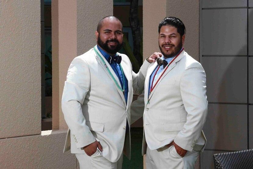 Bryan Negrón Quiñones, de 31 años, y Eduardo Cintrón Torres, de 29, serán casados bajo en budismo.