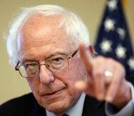 Bernie Sanders, senador independiente por Vermont.