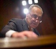 Charles Schumer, líder de la mayoría demócrata del Senado de Estados Unidos.