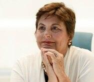 La jueza asociada del Tribunal Supremo Anabelle Rodríguez en una entrevista con El Nuevo Día de 2016.